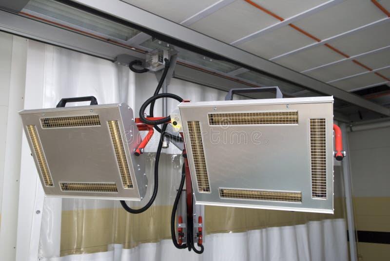 infraröda värmeapparater arkivfoto
