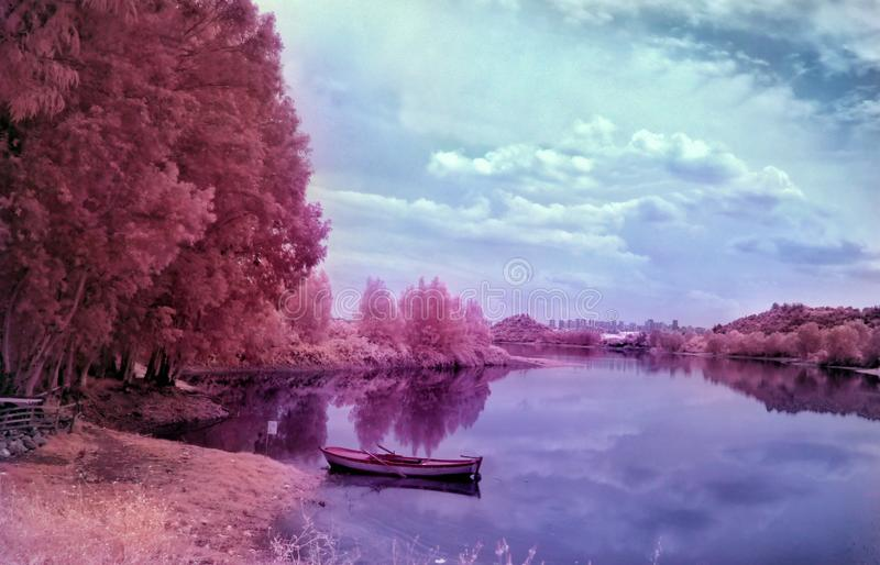 Infrared Adana seyhan jezioro fotografia stock
