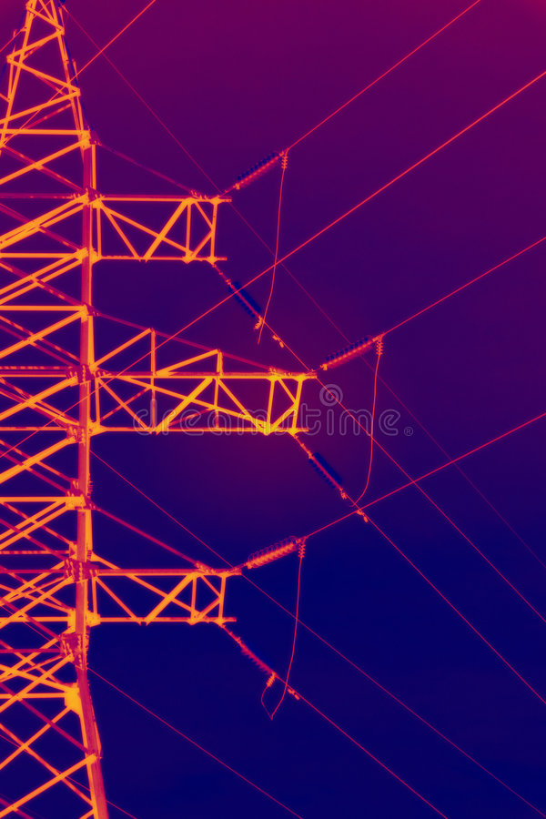 Download Infrared electric pylon stock photo. Image of color, energies - 5866718