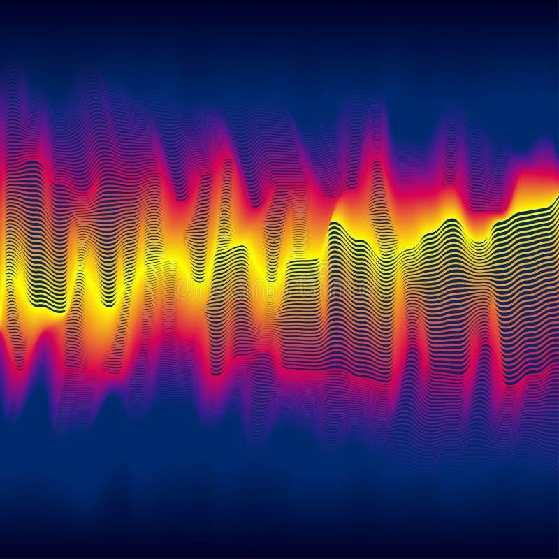 Infrared heat wave stock illustration