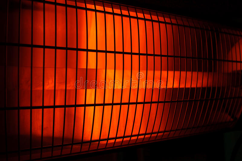 Infrared. Heaters shines and warms royalty free stock photos