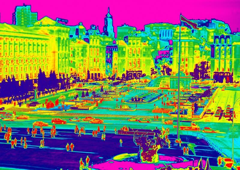 Infrared of Kiev stock photos