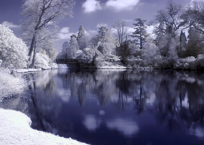 Infrared Lake stock photo