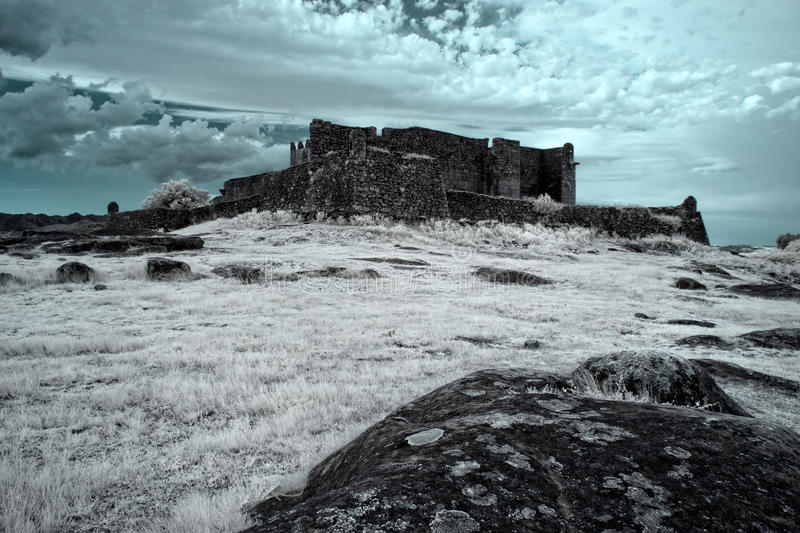 Infrared medieval castle royalty free stock photo