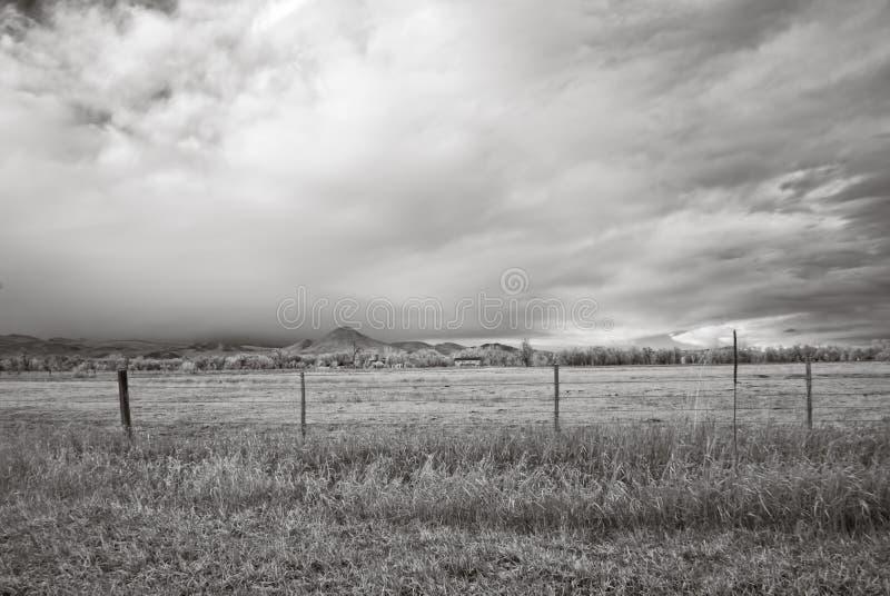 Infrared obrazek Skaliste góry na zewnątrz głazu, Kolorado obraz stock