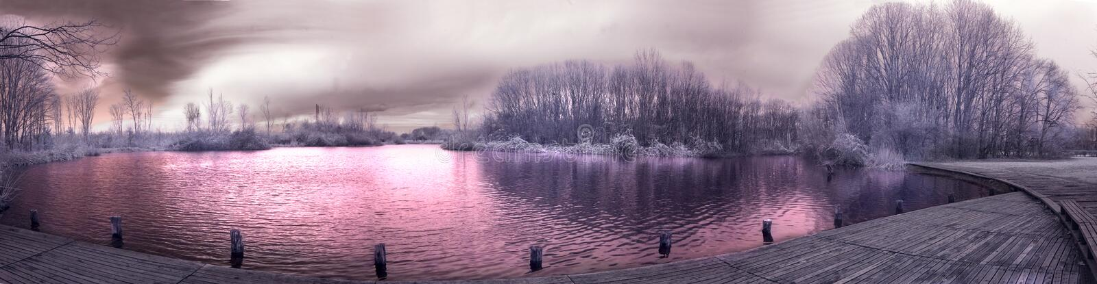 infrared panorama obrazy royalty free