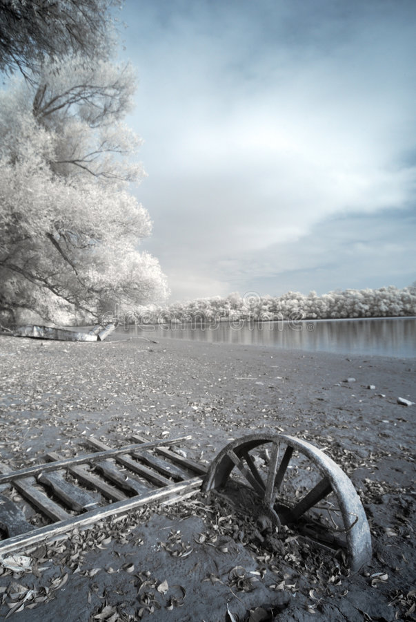Free Infrared River Shore Stock Image - 6908181
