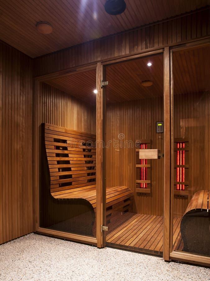 Infrared sauna cabin stock photography