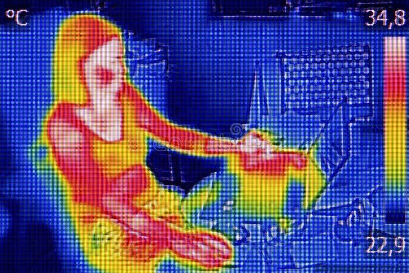 Infrared termografia wizerunek zdjęcia stock