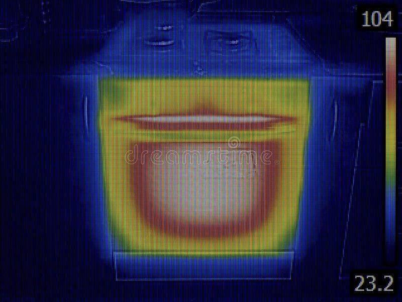 Thermal Image of Stove Oven royalty free stock photography