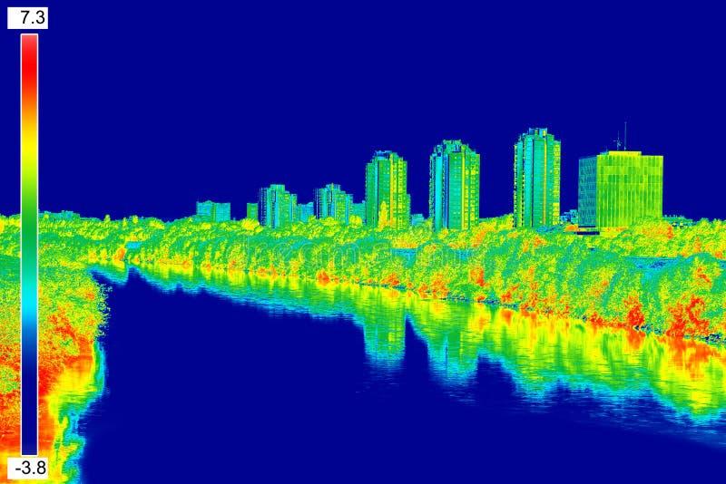 Infrared wizerunku panorama Zagreb zdjęcia stock