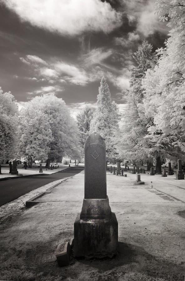 Infrarode Foto van een Begraafplaats royalty-vrije stock foto
