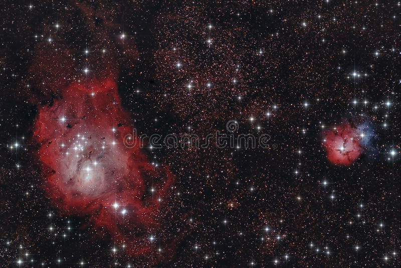Infrarode nebulaes royalty-vrije stock afbeeldingen