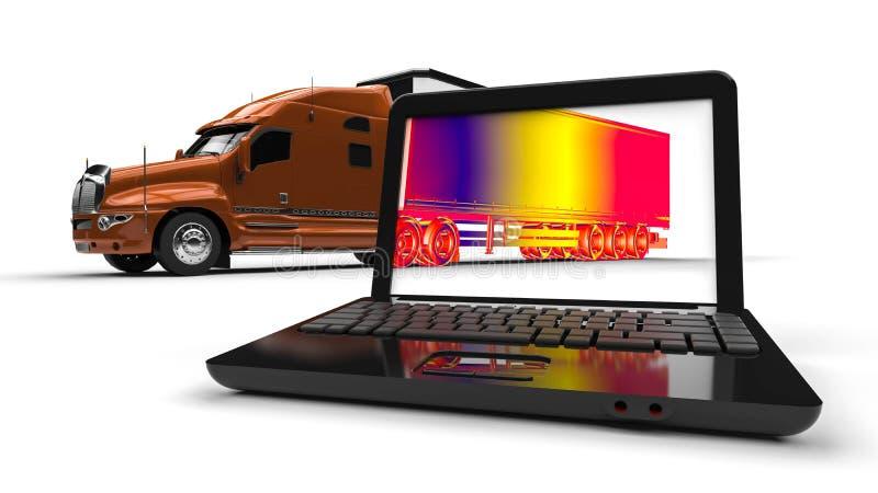Infrarode vrachtwagen vector illustratie