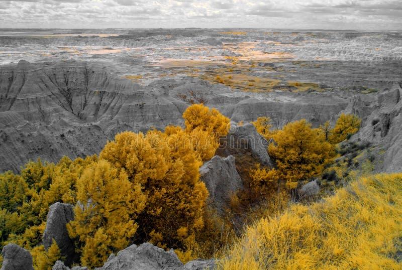 Infrarood Badlands Nationaal Park, Zuid- Dakota stock foto's