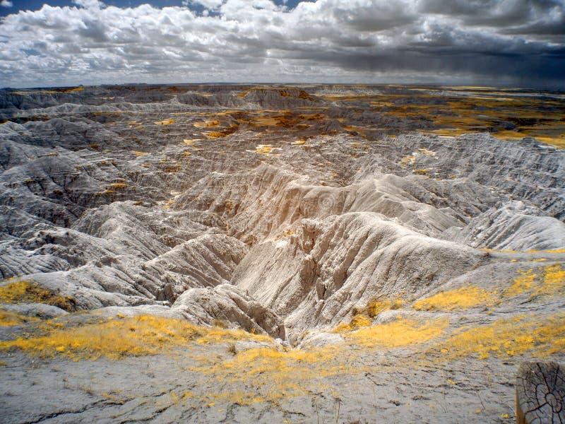 Infrarood Badlands Nationaal Park, Zuid- Dakota stock afbeeldingen
