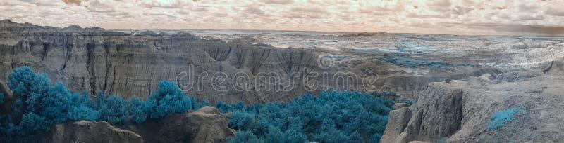 Infrarood Badlands Nationaal Park, Zuid- Dakota royalty-vrije stock fotografie