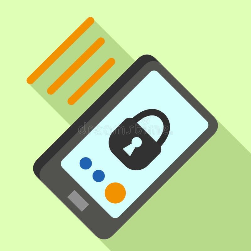 Infrarood de veiligheidspictogram van Smartphone, vlakke stijl vector illustratie