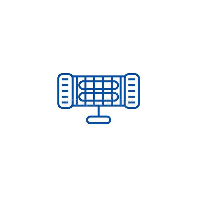 Infrarood het pictogramconcept van de verwarmerlijn Infrarood verwarmer vlak vectorsymbool, teken, overzichtsillustratie stock illustratie