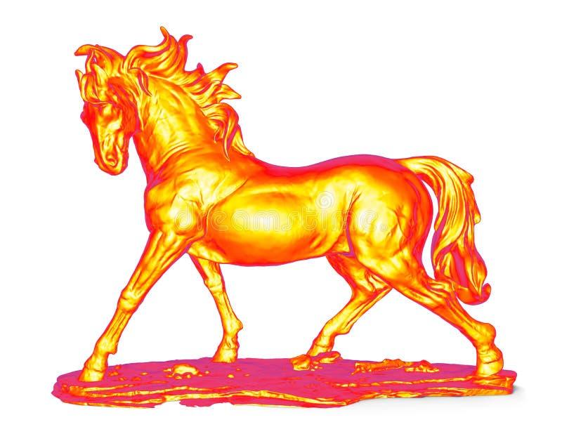 Infrarood paardbeeldje vector illustratie