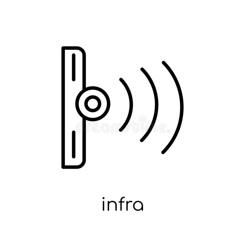 Infrarood pictogram  royalty-vrije illustratie