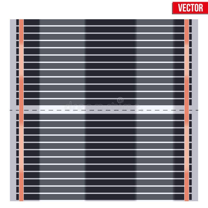 Infrarood vloer verwarmingssysteem vector illustratie