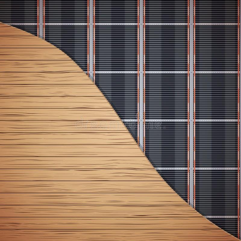 Infrarood vloerverwarmingssysteem stock illustratie