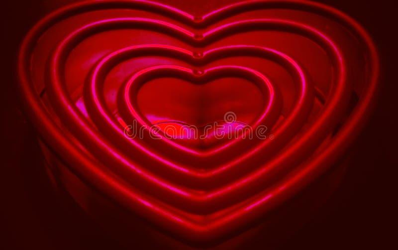 Infrarosso dei cuori dei biglietti di S. Valentino bello immagine stock libera da diritti