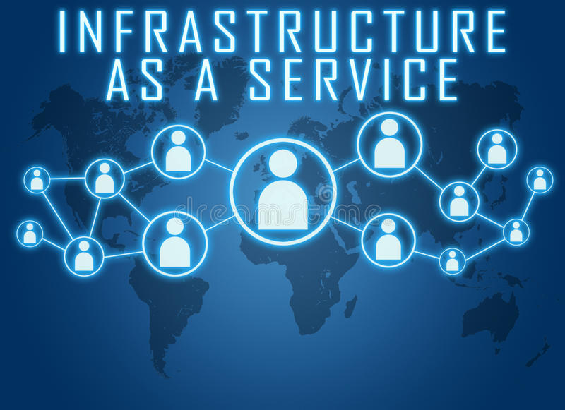 Infrastructure as a Service vector illustration