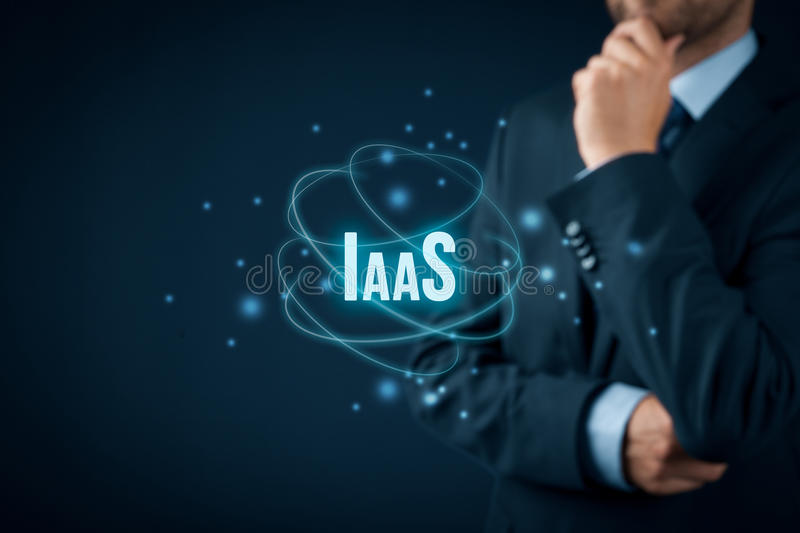 Infrastructure as a Service IaaS. Concept. Modern information technology business model where hardware is provided by an external provider royalty free stock image