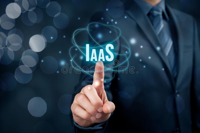 Infrastructure as a Service IaaS. Concept. Modern information technology business model where hardware is provided by an external provider royalty free stock images
