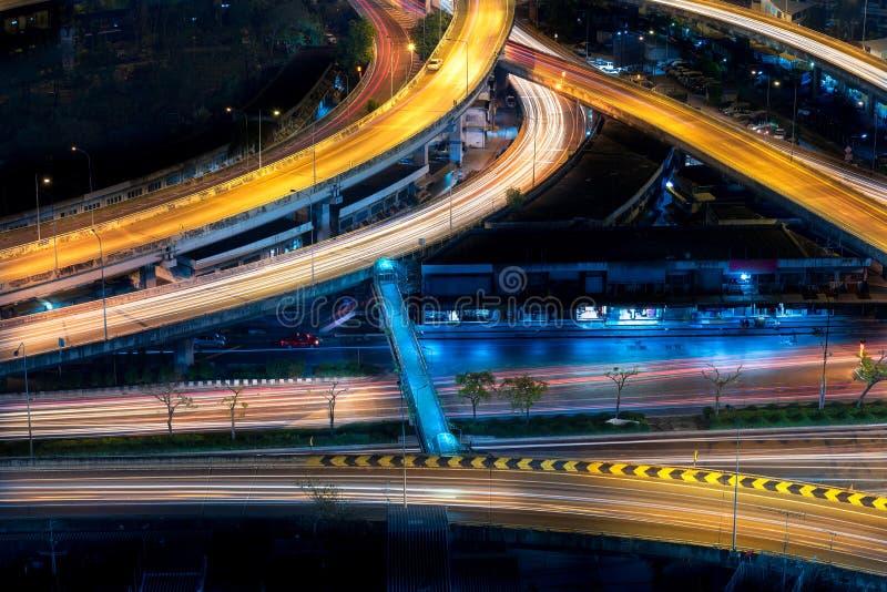Infrastructure d'autoroute urbaine pour le transport images stock