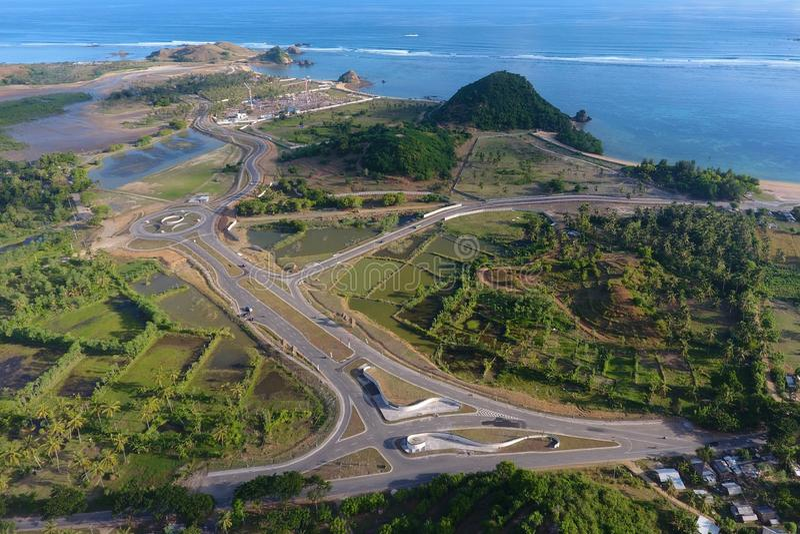 Infrastructure de Mandalika photo stock