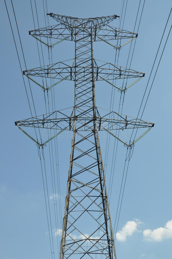 Infrastructure of the energy industry stock photography