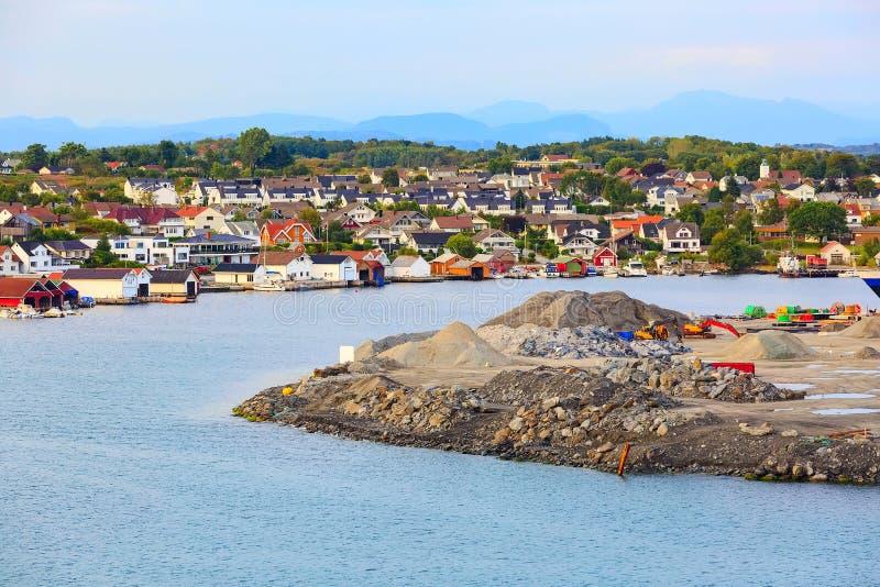 Infrastructure industrielle près de Stavanger, Norvège photos libres de droits