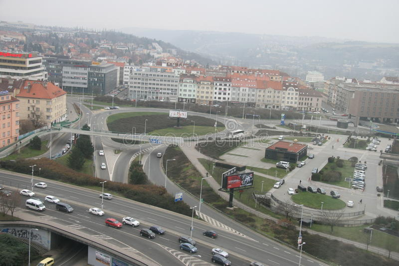 Infrastructure_Prague связи стоковое фото rf