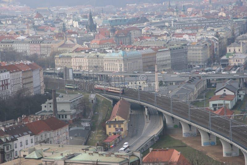 Infrastructure_Prague di comunicazione immagini stock