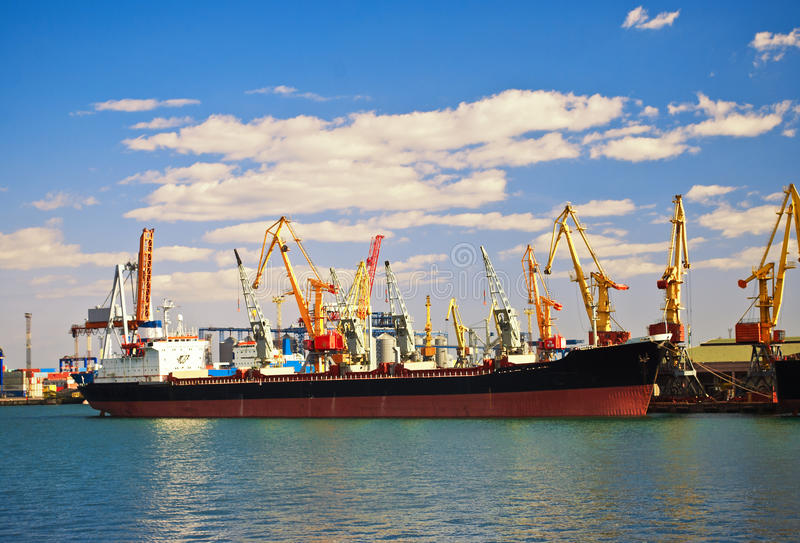 Download Infrastructure of seaport. stock photo. Image of infrastructure - 23917816