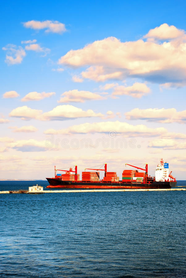 Download Infrastructure of seaport. stock photo. Image of delivery - 23955024
