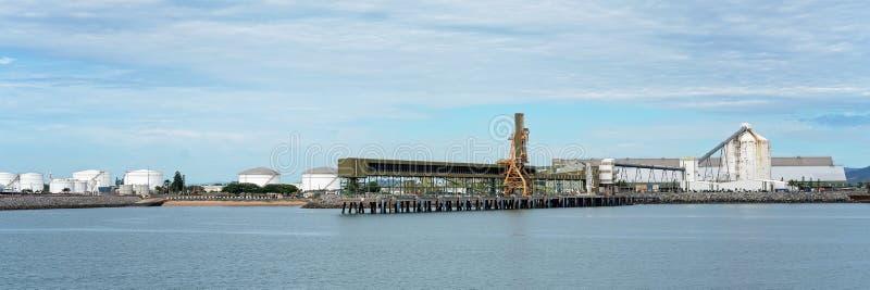 Infrastructuur van de Haven van de Goederenuitvoer stock afbeelding
