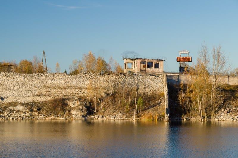 Infrastructuur van verlaten gevangenis royalty-vrije stock foto