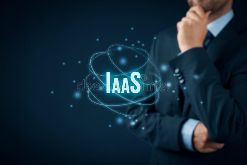 Infrastruktur als Service IaaS lizenzfreies stockbild