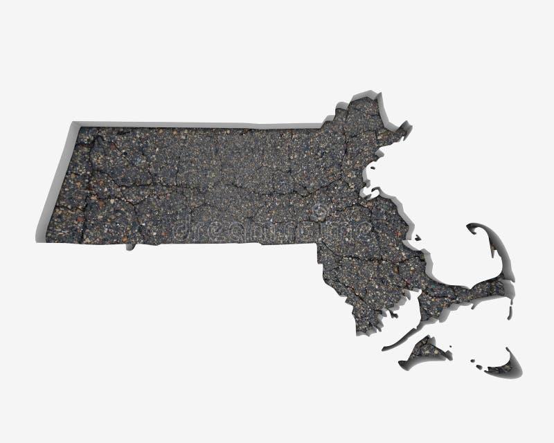Infrastruktur 3 för konstruktion för trottoar för Massachusetts MORfärdplan vektor illustrationer