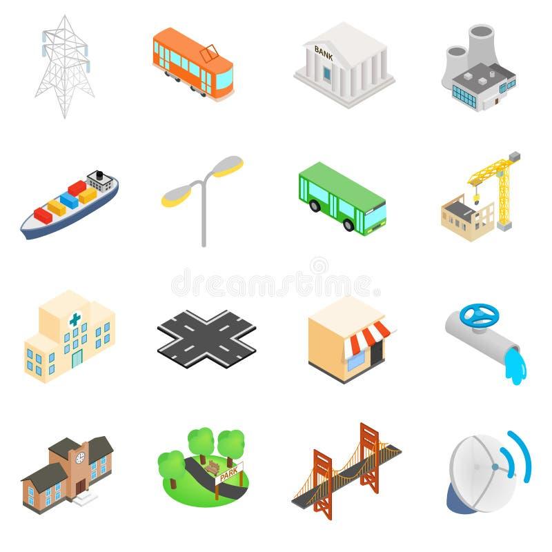 Infrastruktur ikony ustawiać ilustracji