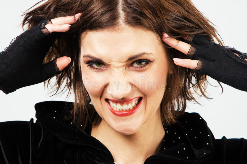 Infuriated woman royalty free stock image