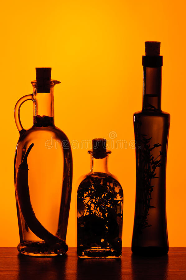 Infused olive oil stock image