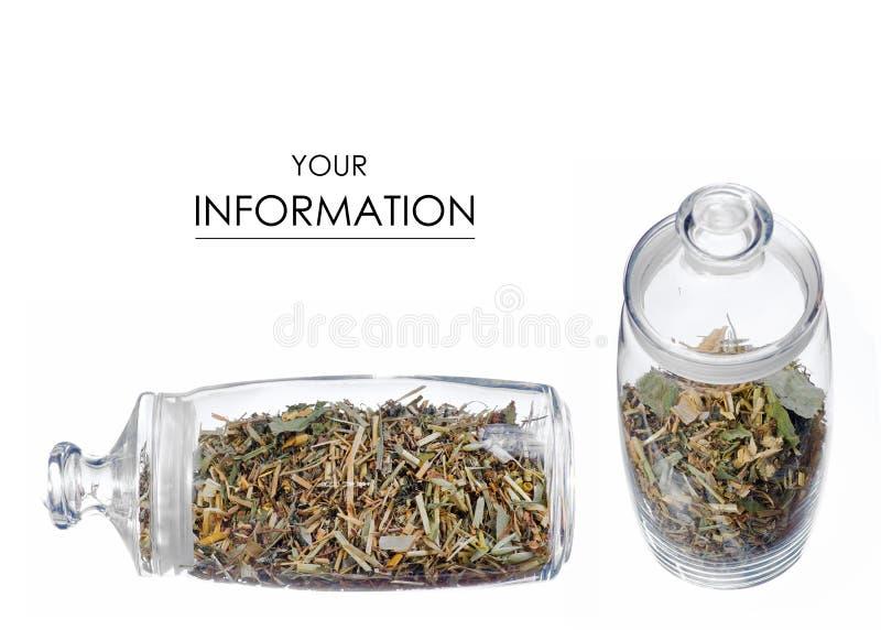 Infusión de hierbas en modelo determinado del tarro foto de archivo libre de regalías