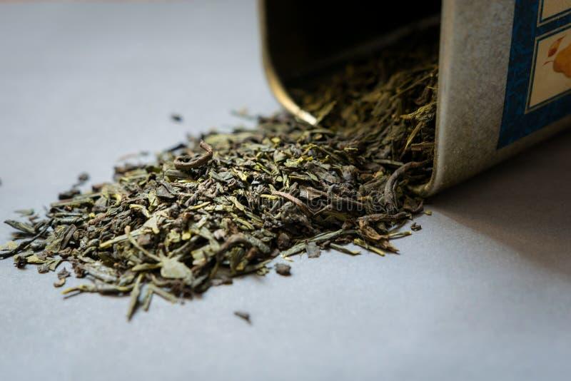 Infusión de hierbas sana llena de antioxidantes Seque las hierbas foto de archivo