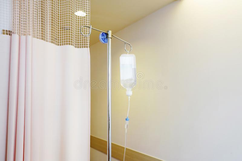 Infusion IV drip saline solution bottle medical royalty free stock image