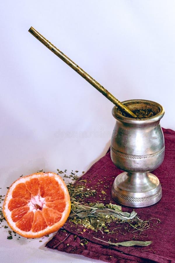 Infuzja «Yerba szturmanu «infuzja z grapefruitowym obraz stock